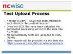 test upload process