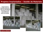 projetos implantados gest o de materiais30