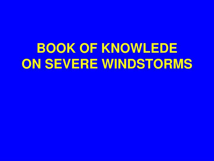 BOOK OF KNOWLEDE