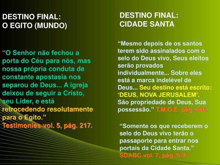 DESTINO FINAL: