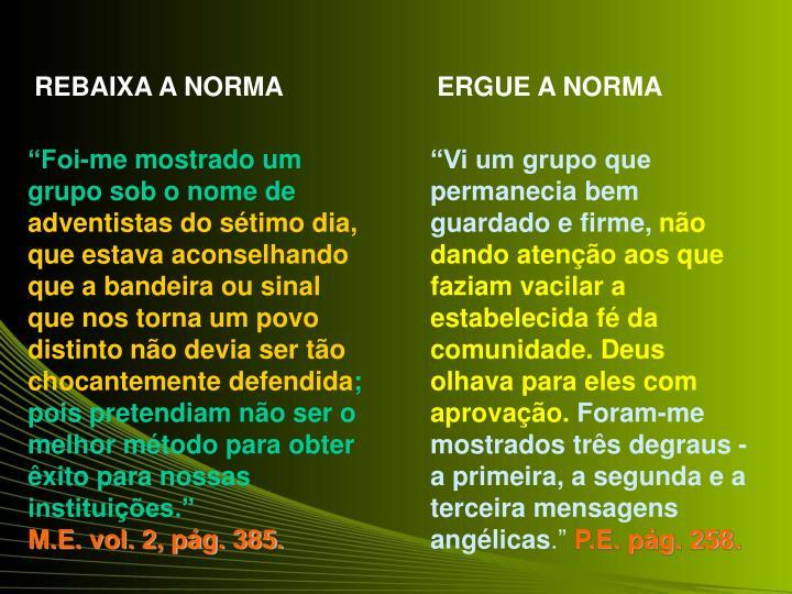 REBAIXA A NORMA