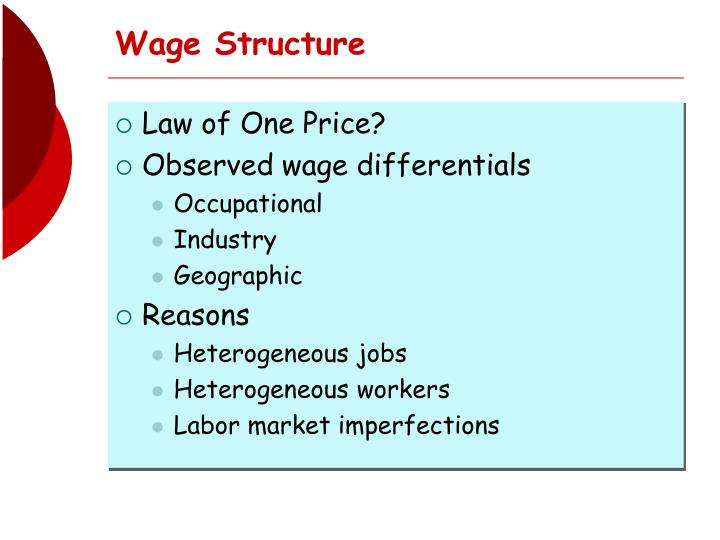 wage structure n.