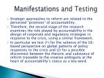 manifestations and testing
