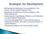 strategies for development