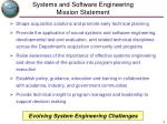 systems and software engineering mission statement