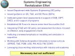 systems engineering revitalization effort