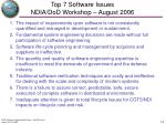 top 7 software issues ndia dod workshop august 2006