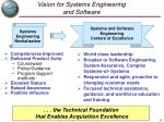 vision for systems engineering and software