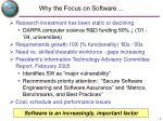 why the focus on software