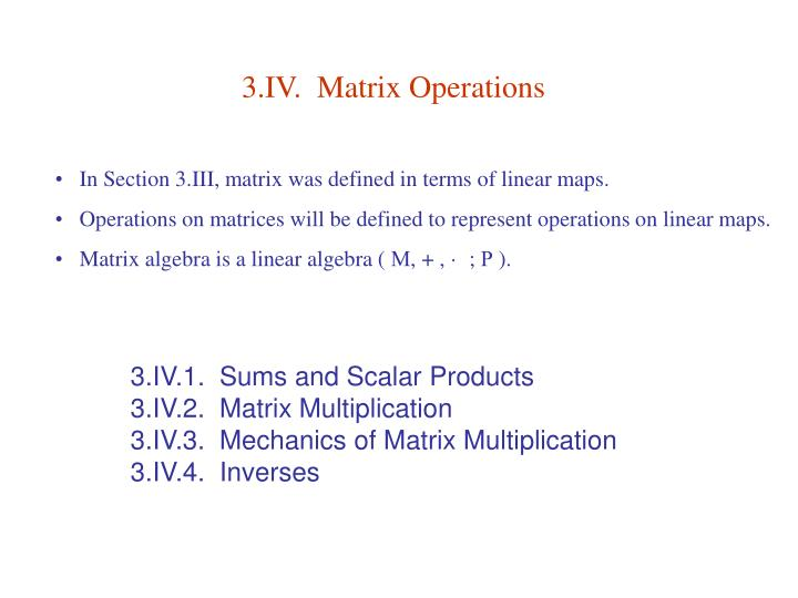 3 iv matrix operations n.