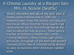 a chinese laundry at a bargain sale mrs h scovile seattle