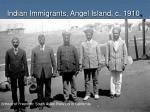 indian immigrants angel island c 1910