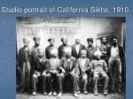 studio portrait of california sikhs 1910