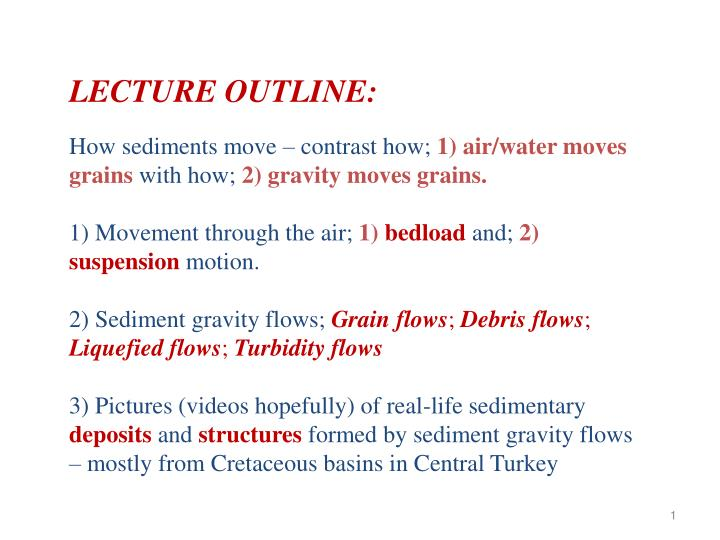 LECTURE OUTLINE: