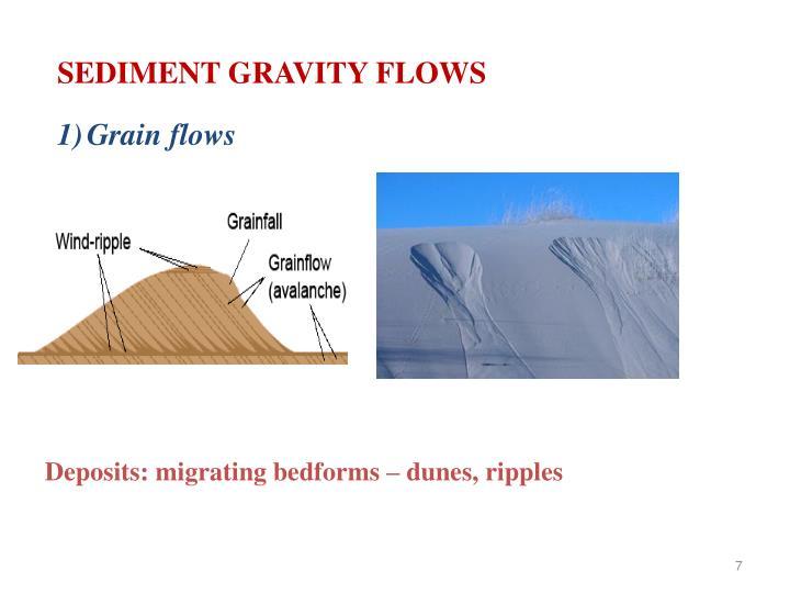 SEDIMENT GRAVITY FLOWS