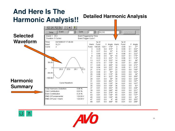 Detailed Harmonic Analysis