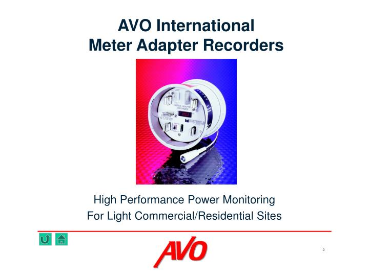 Avo international meter adapter recorders