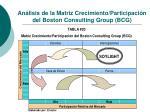 an lisis de la matriz crecimiento participaci n del boston consulting group bcg