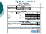 capital de operaci n