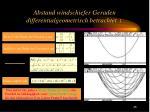 abstand windschiefer geraden differentialgeometrisch betrachtet 1
