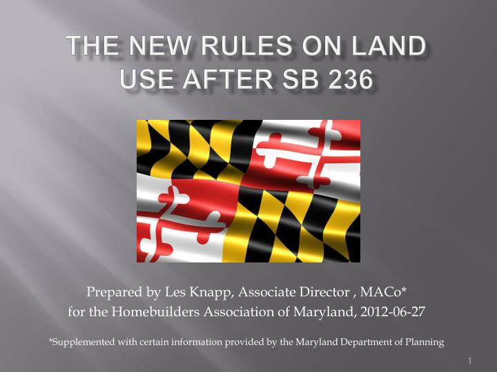 the new rules on land use after sb 236 n.