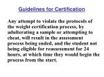 guidelines for certification1