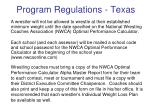 program regulations texas1