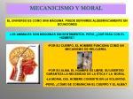 mecanicismo y moral