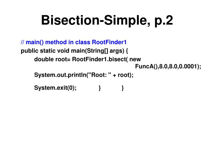 Bisection-Simple, p.2