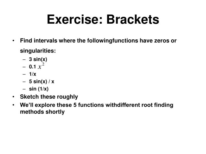 Exercise: Brackets