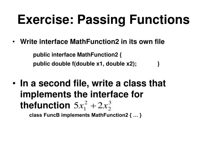 Exercise: Passing Functions
