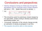 conclusions and perpectives