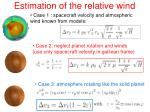 estimation of the relative wind