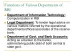 functions of various departments of rbi1