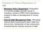 functions of various departments of rbi2