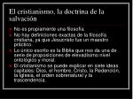 el cristianismo la doctrina de la salvaci n