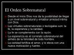 el orden sobrenatural
