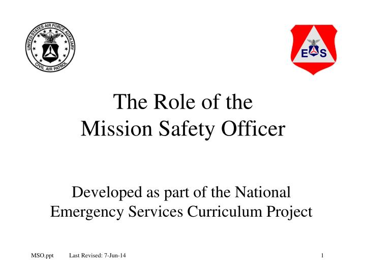 the role of the mission safety officer n.