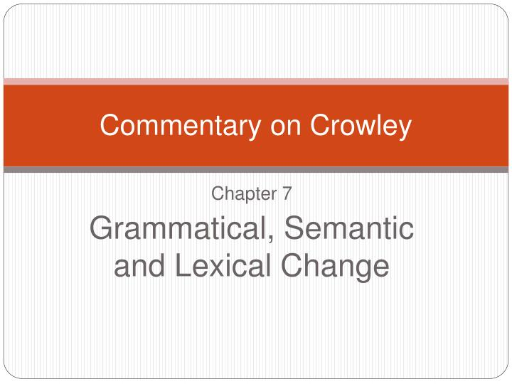 commentary on crowley n.