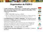 organisation de psdr 31