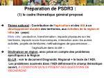 pr paration de psdr3 1 le cadre th matique g n ral propos