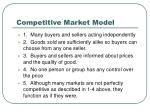 competitive market model
