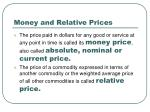 money and relative prices