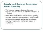 supply and demand determine price quantity