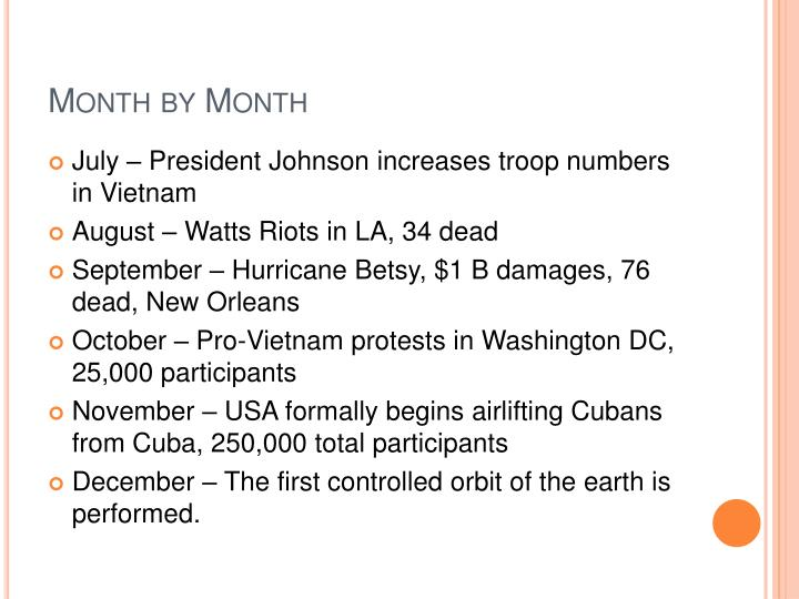 Month by month1