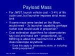 payload mass