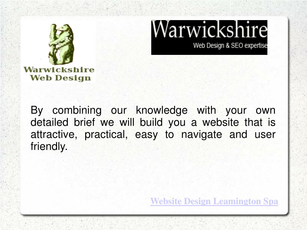 By combining our knowledge with your own detailed brief we will build you a website that is attractive, practical, easy to navigate and user friendly.