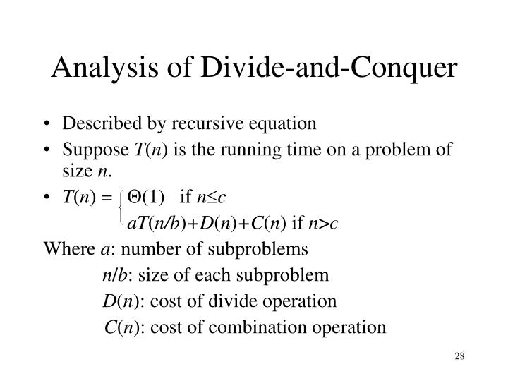 Analysis of Divide-and-Conquer