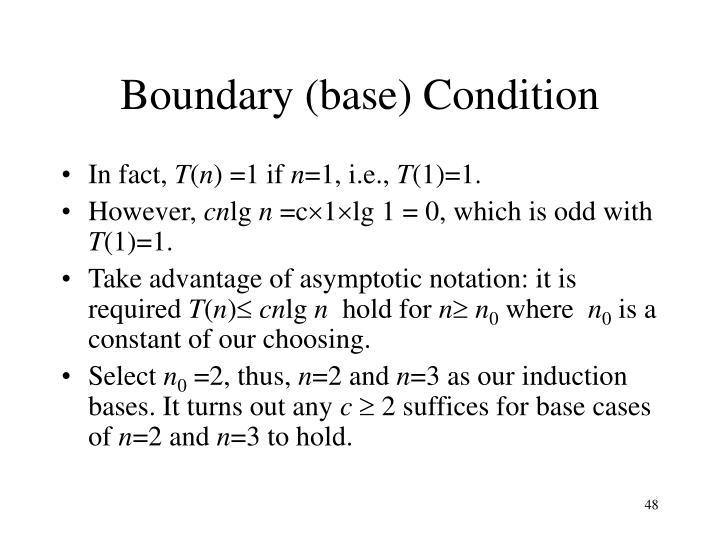 Boundary (base) Condition