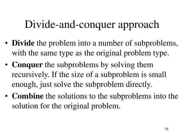 Divide-and-conquer approach